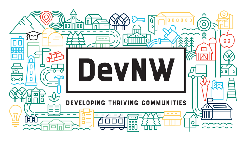 DevNW new logo pattern with tagline